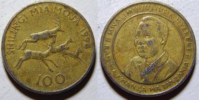 Tanzania 100 Shilingi 1994 VF č33832