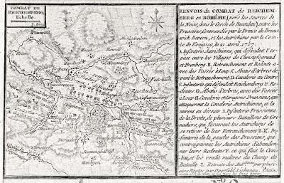 Liberec  bitva, mědiryt 1757