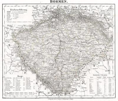 Flemming, Čechy, litografie, 1844