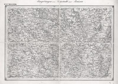 Nové Město a Březová n.Svitavou, oceloryt, 1844