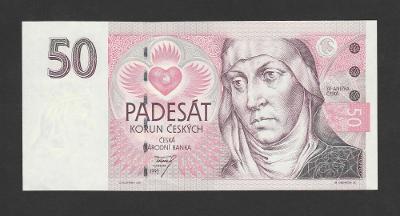 💎 50 korun 1993 NEPERFOROVANÁ * ! serie A ! * špičkový stav UNC ! 💎