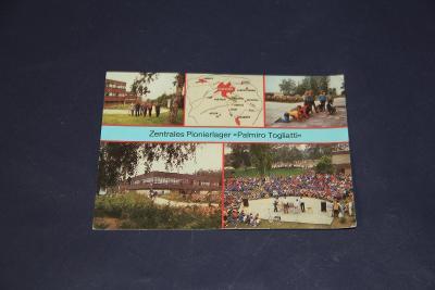stará pohlednice pionýrský tábor DDR 1986  15 x 10,5 cm VÍC V POPISU