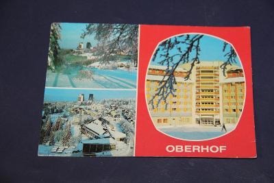 stará pohlednice Oberhof DDR 1985 15 x 10,5 cm VÍC V POPISU
