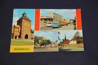 stará pohlednice Bernau trabant DDR 1986 15 x 10,5 cm VÍC V POPISU