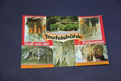 stará pohlednice Čertova jeskyně u Pottenstein15 x 10,5cm VÍC V POPISU