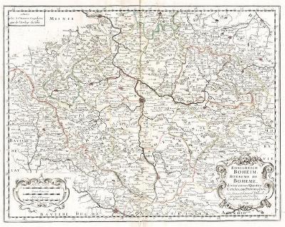 Sanson S..: Boheim, kolor. mědiryt, 1729