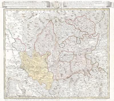 Homann dědic. : Loketský a Chebský, mědiryt, 1742