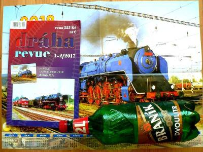 Dráha revue 1-2/2017. S velkým plakátem parní lokomotivy kalendář
