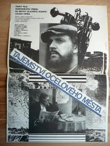Tajemností ocelového města (filmový plakát, film ČSSR