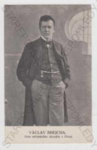 Václav Brejcha, herec, Městské divadlo v Plzni