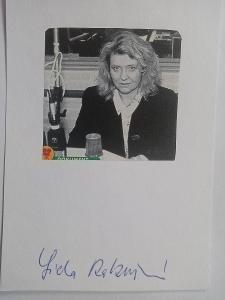 Autogram ... Lída RAKUŠANOVÁ ... spisovatelka, Svobodná Evropa