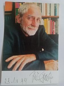 Autogram ... Jiří STRÁNSKÝ ... muzeolog  Kroměříž a politik