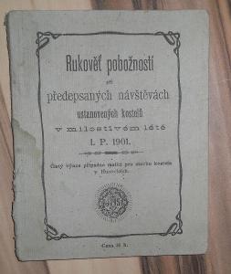 RUKOVĚŤ POBOŽNOSTÍ 1901, výnos pro stavbu kostela v Husovicích