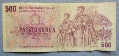 500 Kčs 1973,  série Z 45