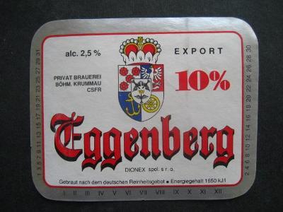 Pivní etiketa Český Krumlov použitá