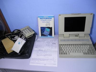 RETRO - NOTEBOOK COMPUTER FMA 3300 - NB 386 DX s dobovou fakturou !!!