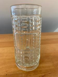 Pivní sklenice z litého skla, objem 0,3 l, rok cca 1900, výška 15 cm,
