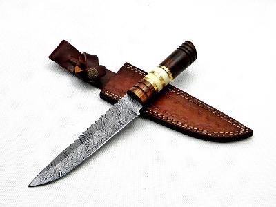 003/ Damaškový lovecky nůž. Rucni vyroba.