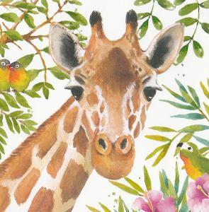 Žirafa a ptáček