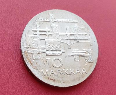 Finsko 10 Markkaa 1967. Ag. Luxusní stav.