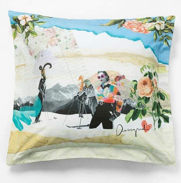 DESIGUAL pillow collage krásný povlak -povlečení na polštář/80x 50cm/ - Zařízení