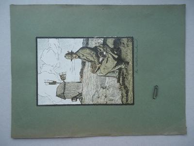 Der Bettelmusikant....23,5 x 31,5 cm....velikost obrázku 12,5 x 18 cm