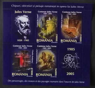 Rumunsko 2005 Bl.352 10€ Století smrti Julese Vernea, románopisec