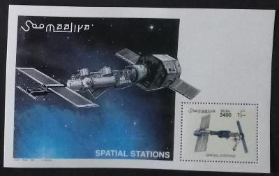 Somálsko 2002 Bl.92 14€ Vesmírné stanice a kosmos