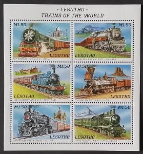 Lesotho 1996 Mi.1178-3 7€ Vlaky a lokomotivy světa