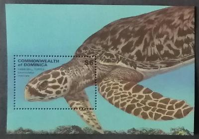 Dominika 1993 Bl.232 7,5€ Plazi a želvy ostrovů