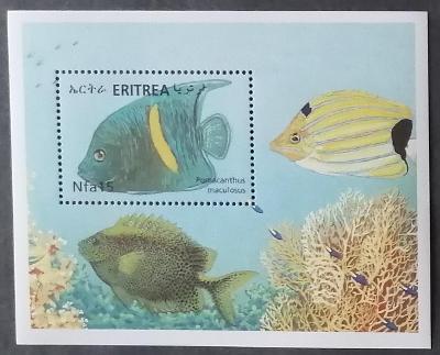 Eritrea 2000 Bl.12 6€ Korálové ryby Rudého moře