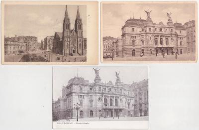 Praha, Vinohrady (3 ks) 1925-1945