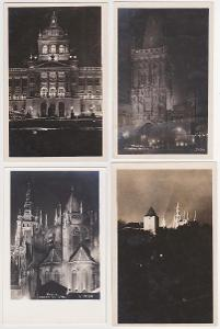 Praha (noční záběry) 10 ks, 1925-1950