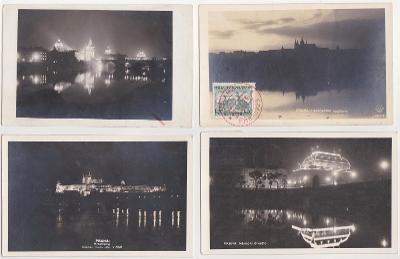 Praha (noční záběry) 12 ks, 1925-1945
