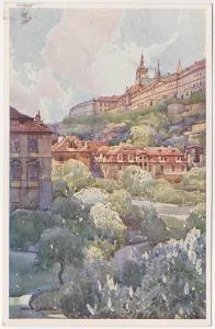 Praha (Furstenberská zahrada) umělec: J. Šetelík - prošlá 1917