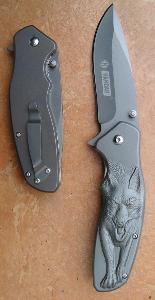Celokovový zavírací nůž Kandar vlk