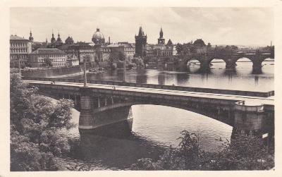 Praha - prošlá, autopošta 1952