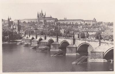Praha - prošlá, autopošta 1946