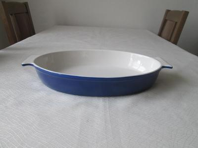 Zapékací oválná mísa - modrá barva