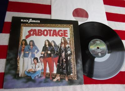💥 LP: BLACK SABBATH - SABOTAGE, jako nová MINT! 1press Germany 1975
