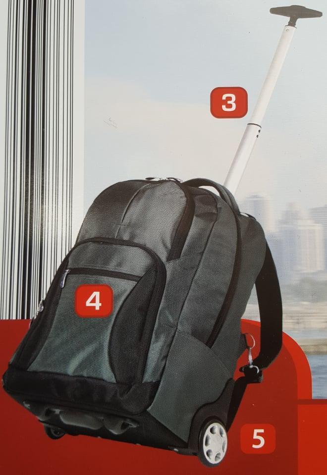 7G83 PRAKTICKÝ BATOH S KOLEČKY A MADLEM 50x32x20 *7G83*  - Tašky, batohy, kufry