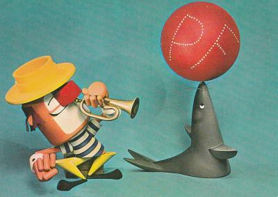 Lachtan a klaun PF. 1973 (retro)