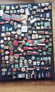 Sbírka odznaků v zásobníku