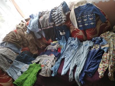 Mega set oblečení kluk, vel. 80-86