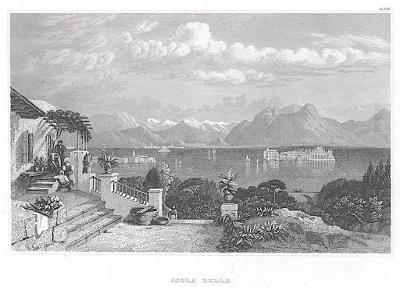 Isola Bella,  Meyer, oceloryt, 1850