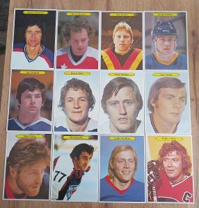 Kompletní set karet NHL - OPCH Super 80/81 (24 karet)