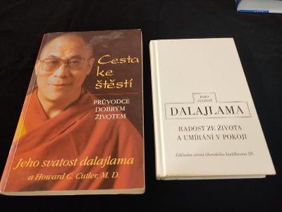 2x Dalajlama : Cesta ke štěstí + Radost ze života a umírání v pokoji