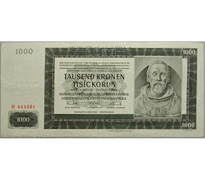 1.000 K 1942, I. vydání, série H, perforovaná (SPECIMEN nahoře)