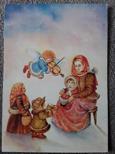 Pohlednice  kresba V.Klimtová