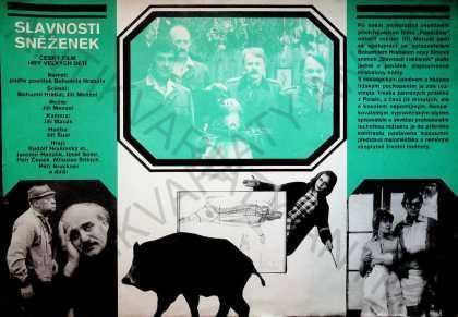 Slavnosti sněženek Zdeněk Ziegler film plakát A3